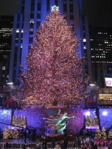 Рождественская елка в Нью-Йорке