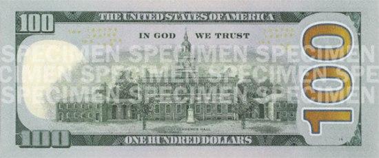 100 долларов США образца 2010 года