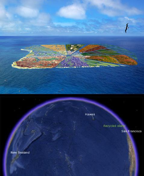 Голландцы мечтают построить в океане Гавайи из мусора