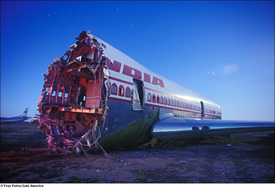 Останки самолета первого поколения Boeing 747.