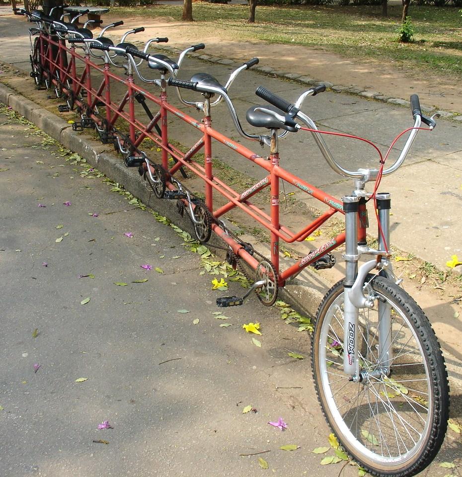 Тандем велосипедов