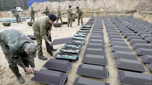 Церемония перезахоронения немецких солдат