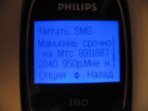 СМС-мошенничество в Интернете