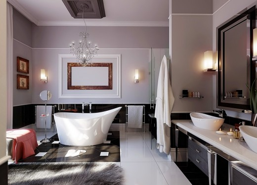 Оформляем просторную ванную комнату