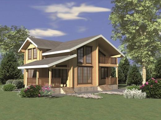 Проект дома из клееного бруса ДКБ 140-1 «Доминант» - лидер продаж нового сезона