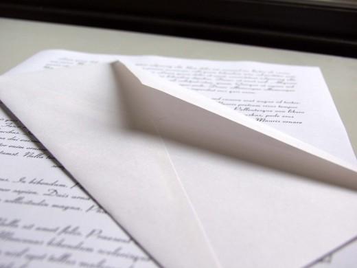 Правила составления писем