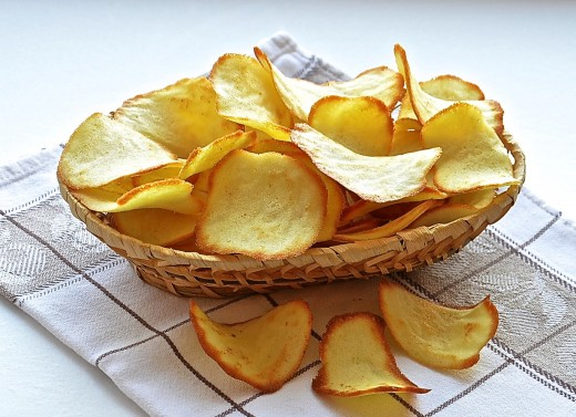 Как приготовить чипсы в микроволновке?