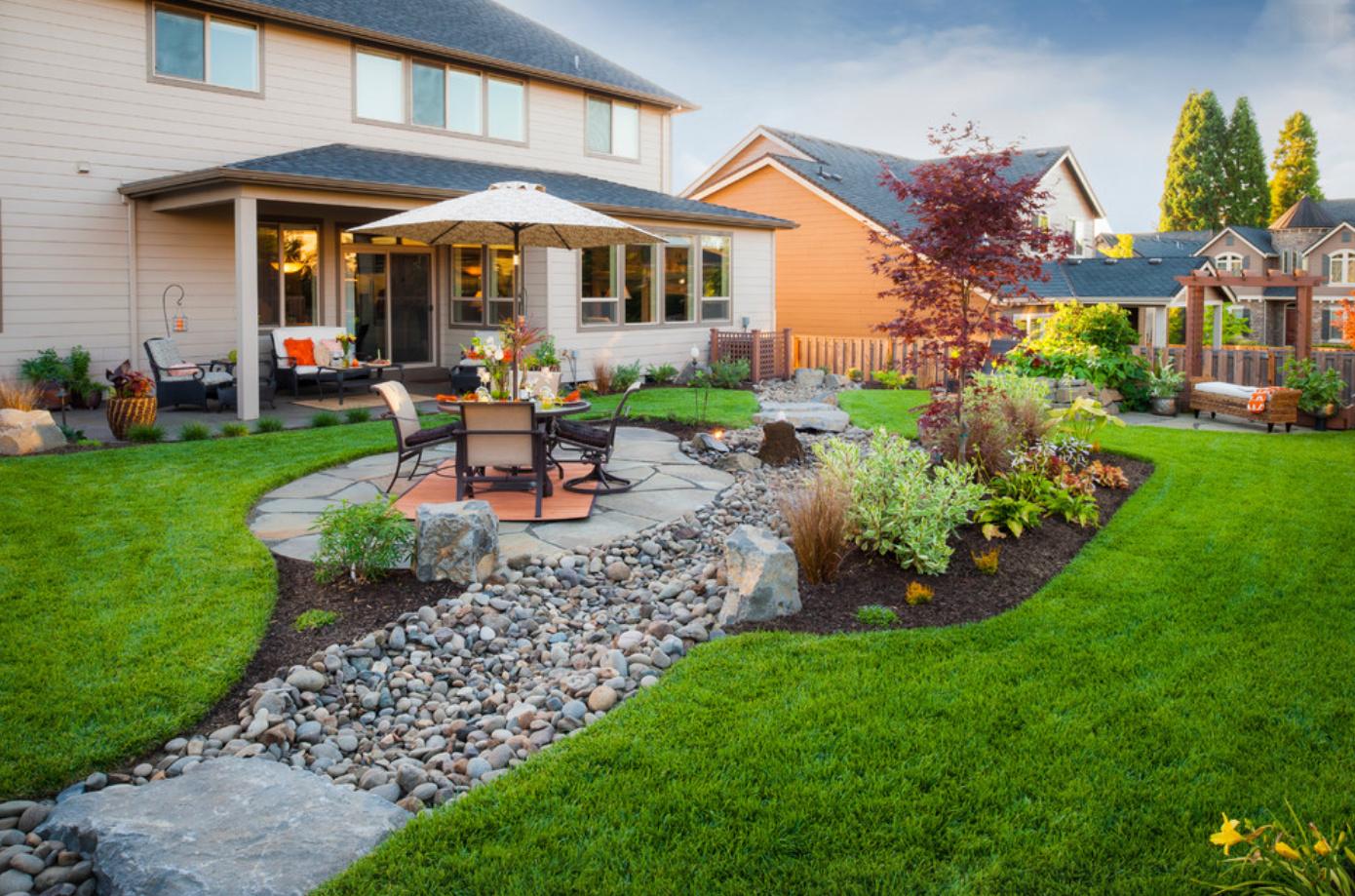 ландшафтный дизайн загородного дома фотогалерея потрібний розмір