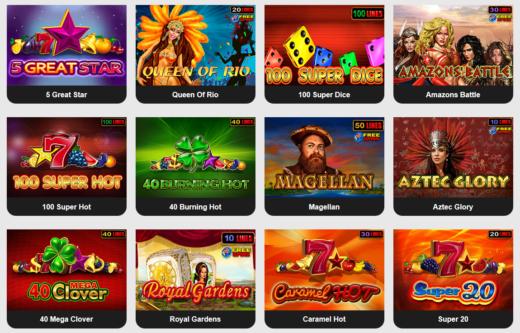 Лучшие игровые автоматы EGT в казино Спинвин