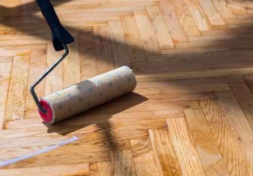 Покрытие деревянных полов лакокрасочными материалами