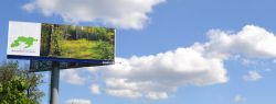 Незаконные рекламные конструкции размещены на территории Лосиного острова