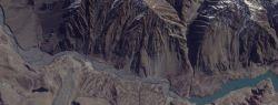 В Пакистане оползень создал озеро