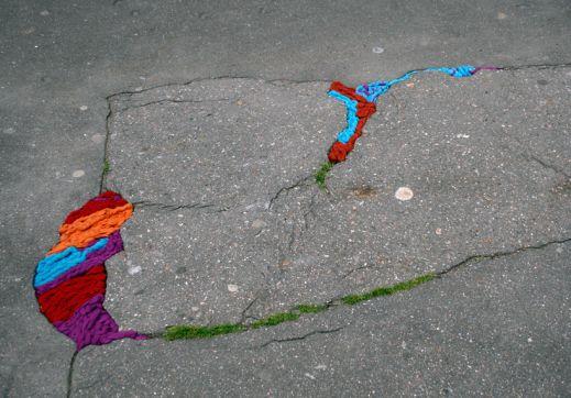 Разноцветные колдобины