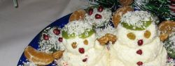 «Семейка снеговичков» — десерт для самых маленьких