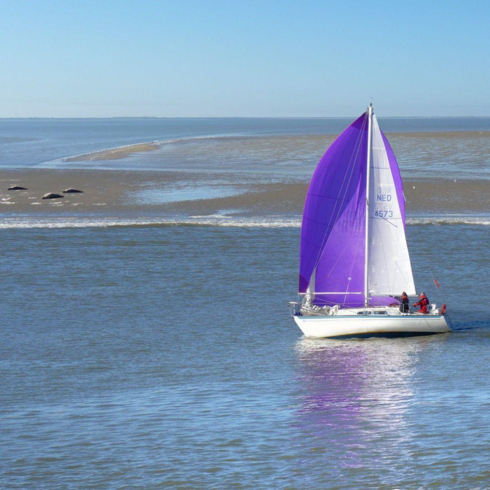 Парусная яхта у берегов Влиланда