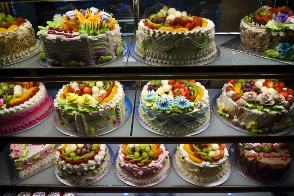 Витрина Китайской пекарни в Лондоне