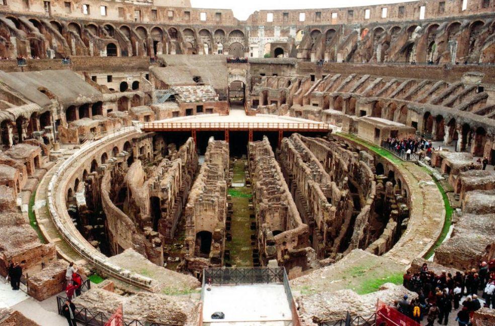 Колизей, вид изнутри