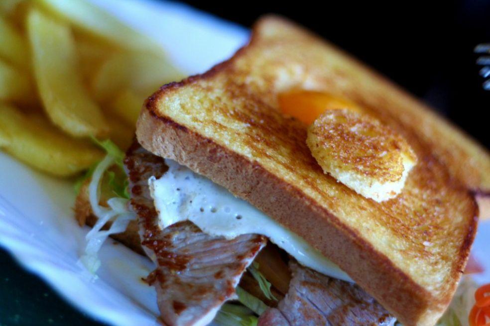 Блюдо внутри сэндвича
