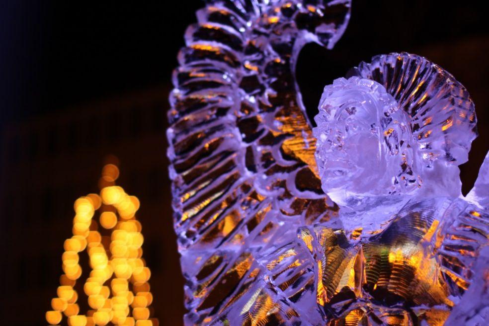 Статуя Свободы на фестивале ледяных фигур в Саппоро
