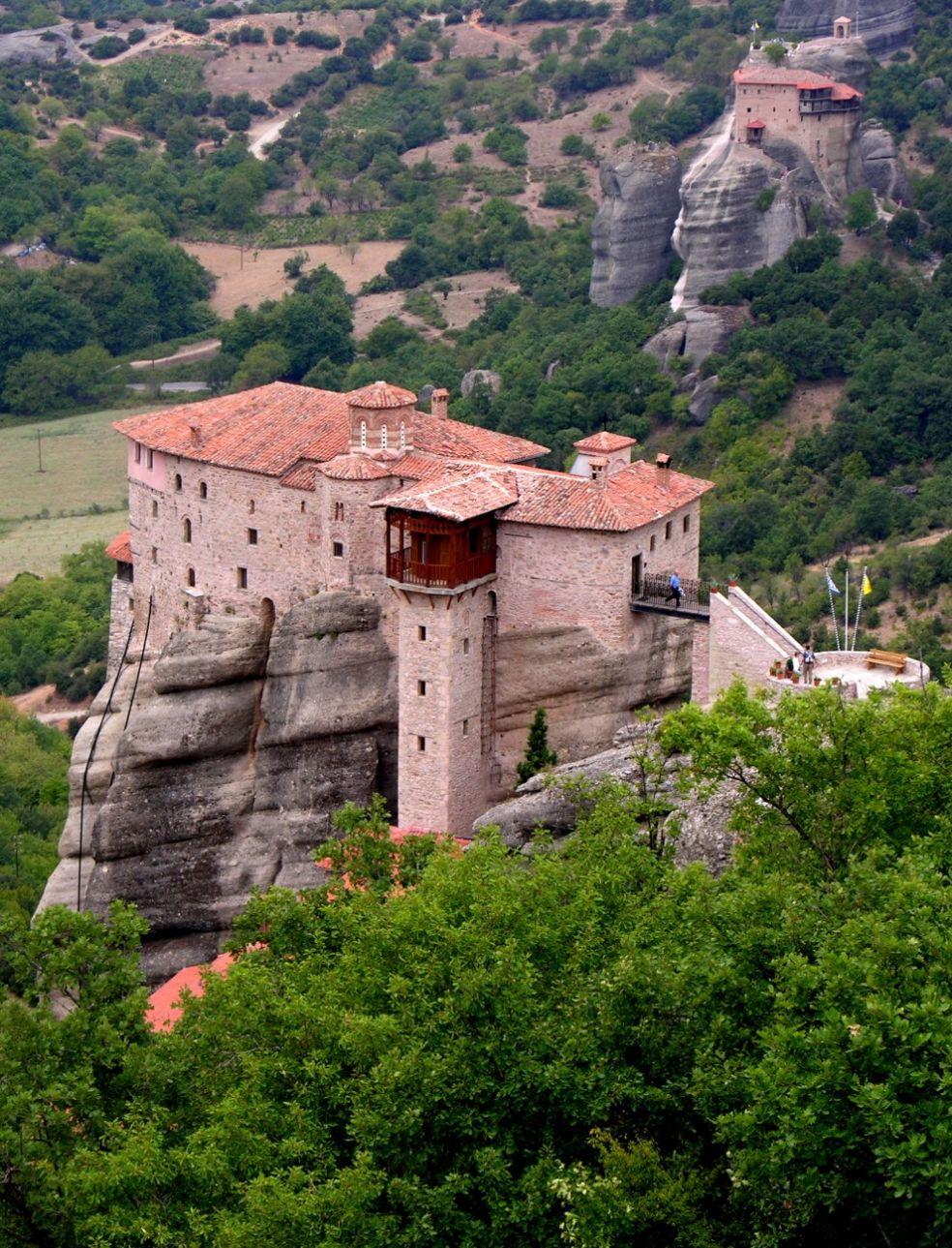 Святой монастырь Роусанов, один из монастырей Метеоры в Каламбаке