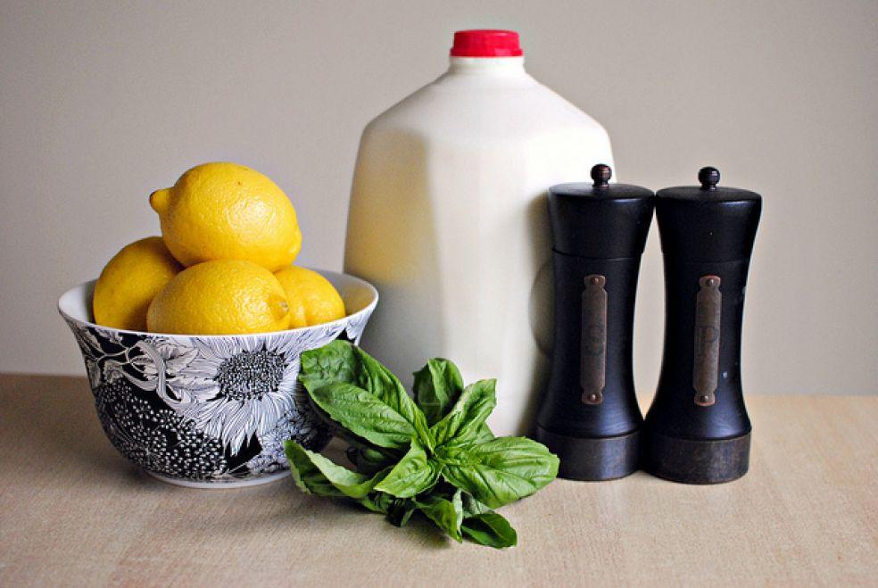 Рикотта с лимоном и базиликом фото-рецепт