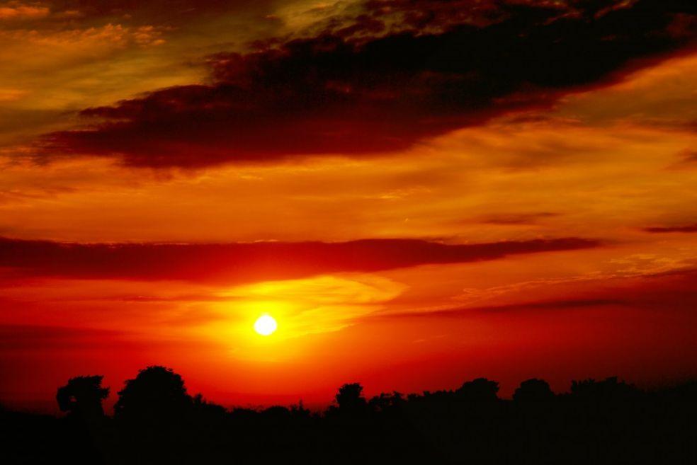 Закат в Суррее, Великобритания