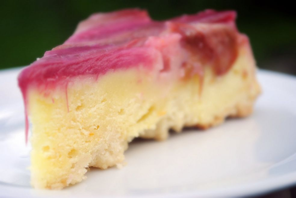 Пирог с ревенем фото-рецепт