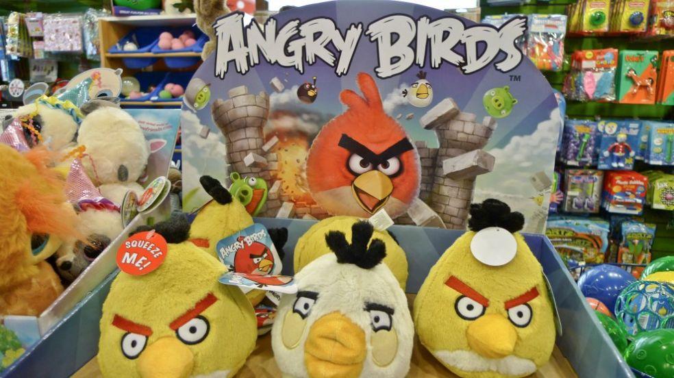 Angry birds в магазине игрушек США