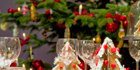 Новогодний стол за границей