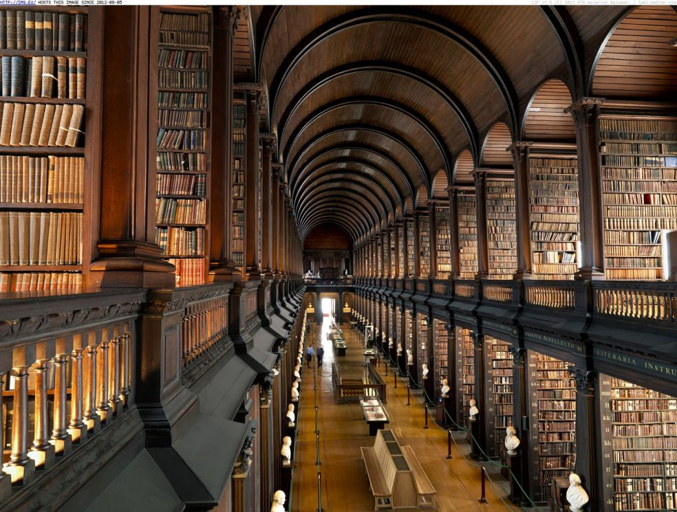 Библиотека Колледжа Тринити – Дублин, Ирландия